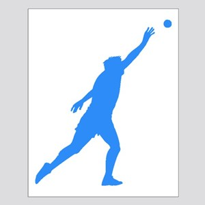 Blue Shot Put Silhouette Posters