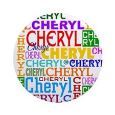 Cheryl Personalized Ornament (Round)