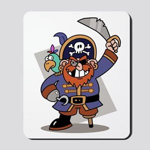 Cartoon Pirate with Parrot Mousepad