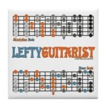 Lefty Scale/Mode Cheat Sheet Tile Coaster