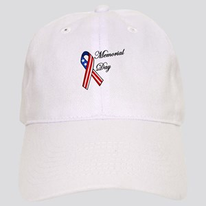 Memorial day with flag ribbon Baseball Cap