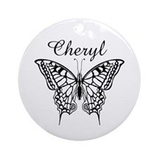 Cheryl Butterfly Ornament (Round)