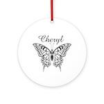 Cheryl Butterfly Ornament (Round)