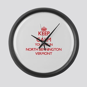 Keep calm you live in North Benni Large Wall Clock