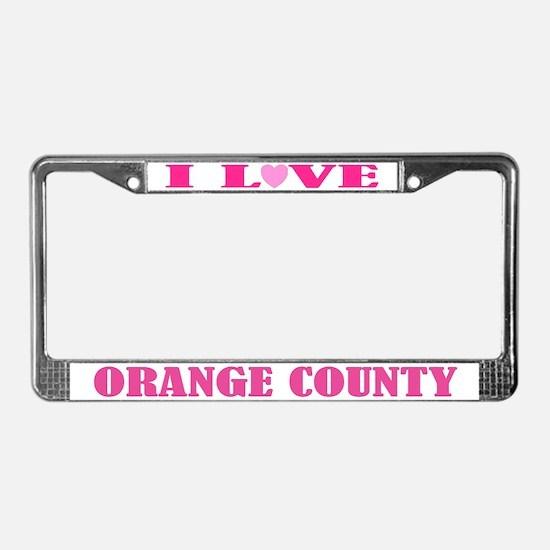 Orange County License Plate Frame