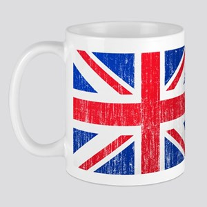 Union Jack Flag Distressed Look Mug