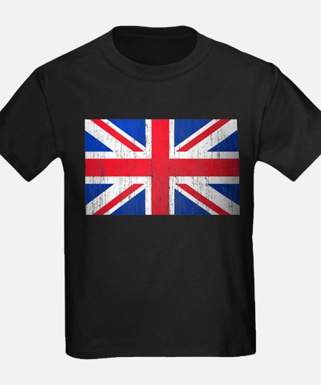 Union Jack Flag Distressed Look T