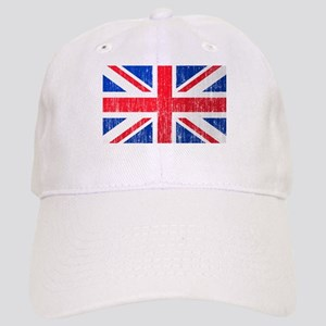 Union Jack Flag Distressed Look Cap