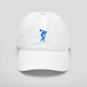 Blue Discus Throw Silhouette Baseball Cap