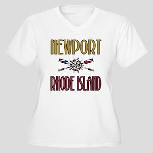 Newport RI Women's Plus Size V-Neck T-Shirt