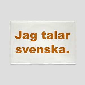 Jag talar svenska Rectangle Magnet