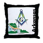 Arkansas Freemasons  Throw Pillow