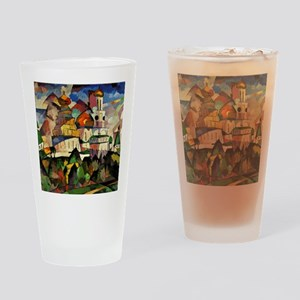 Lentulov - Churches in New Jerusale Drinking Glass