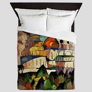 Lentulov - Churches in New Jerusalem Queen Duvet
