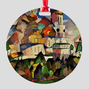 Lentulov - Churches in New Jerusale Round Ornament