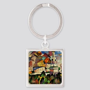 Lentulov - Churches in New Jerusal Square Keychain