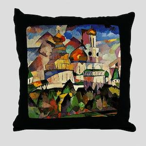 Lentulov - Churches in New Jerusalem Throw Pillow