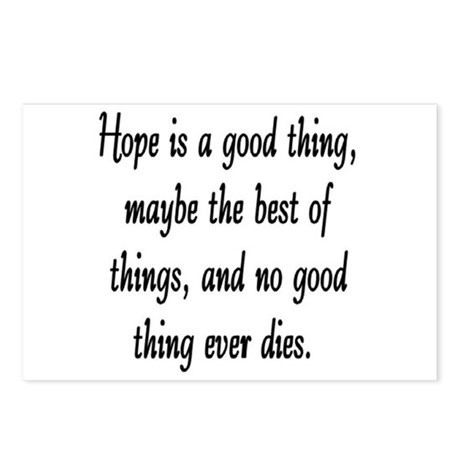 HOPE IS A GOOD THING Postcards (Package of 8)