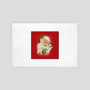 Vintage Christmas Santa Claus 4' x 6' Rug