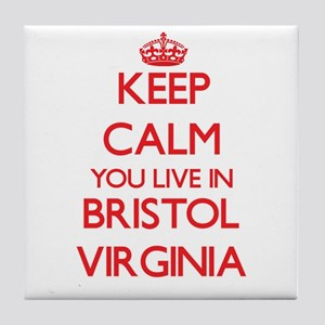 Keep calm you live in Bristol Virgini Tile Coaster