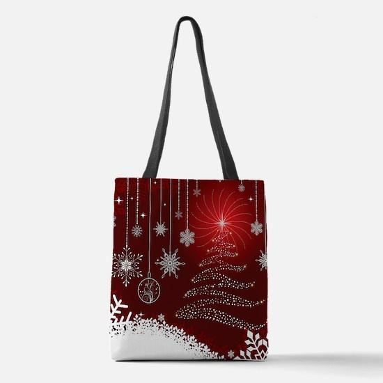 Decorative Christmas Ornamental Polyester Tote Bag