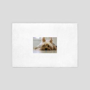 Yorkie Dog 4' x 6' Rug