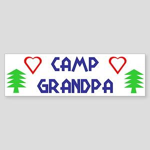 """""""Camp Grandpa"""" Bumper Sticker"""