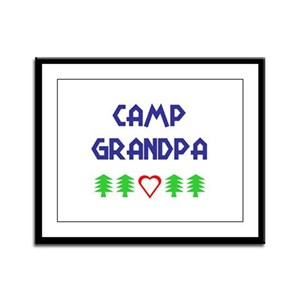 """Camp Grandpa"" Framed Panel Print"