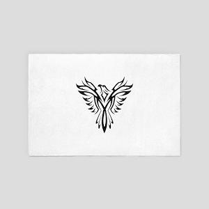 Tribal Phoenix Tattoo Bird 4' x 6' Rug