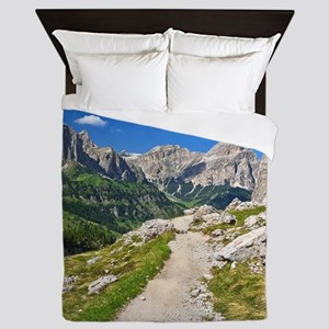 Dolomiti - footpath in Val Badia Queen Duvet