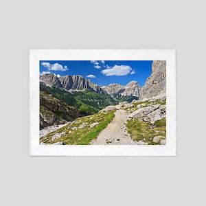 Dolomiti - footpath in Val Badia 5'x7'Area Rug