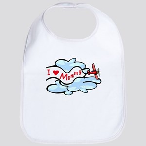 I Love Mommy Airplane Bib