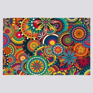 Funky Retro Pattern 4' x 6' Rug