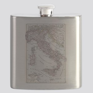 Vintage Map of Italy (1905) Flask