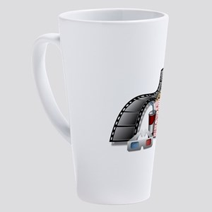 3D Movie Cinema 17 oz Latte Mug