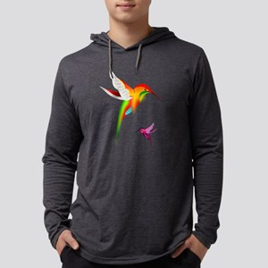 Colorful Hummingbirds Birds Long Sleeve T-Shirt