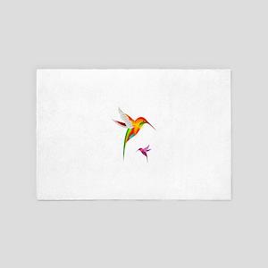 Colorful Hummingbirds Birds 4' x 6' Rug