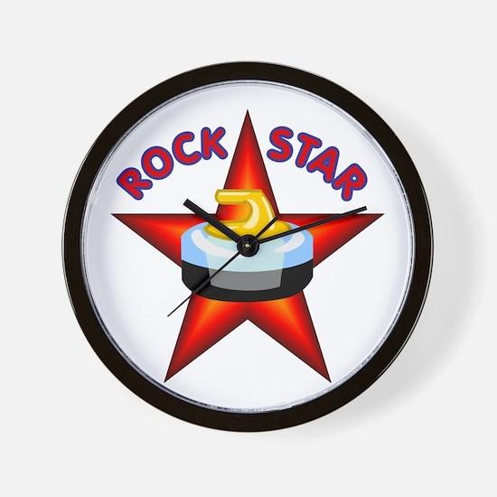 """Rock Star (Curling)"" Wall Clock"