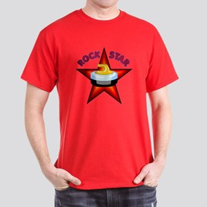 """Rock Star (Curling)"" Dark T-Shirt"