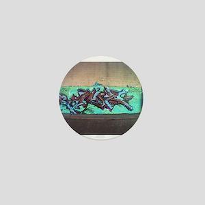 Painting graffiti blue Mini Button