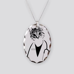 Dr. Cat Necklace Oval Charm