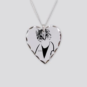Dr. Cat Necklace Heart Charm