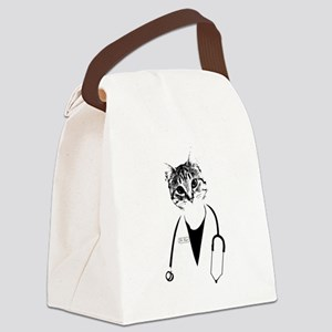 Dr. Cat Canvas Lunch Bag