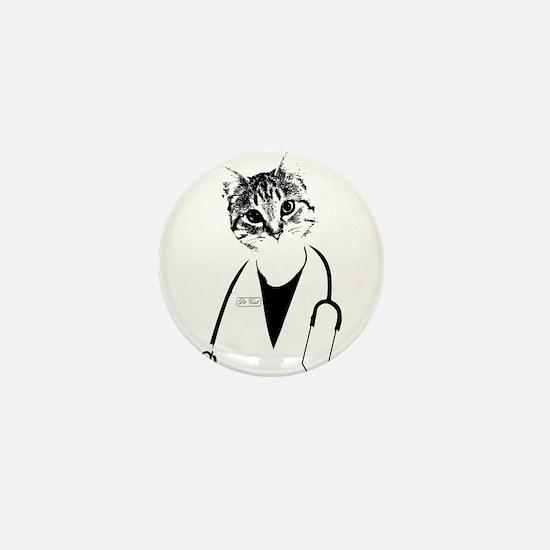 Dr. Cat Mini Button