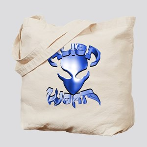 Alienwear Logo Face Blue Tote Bag