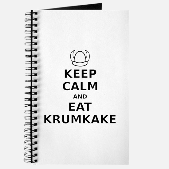 Keep Calm Eat Krumkake Journal