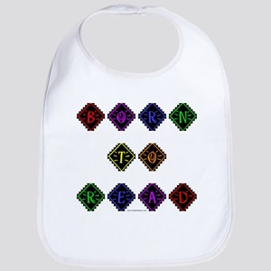 Born to Read Diamonds Bib