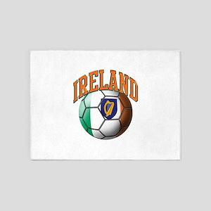 Flag of Ireland Soccer Ball 5'x7'Area Rug