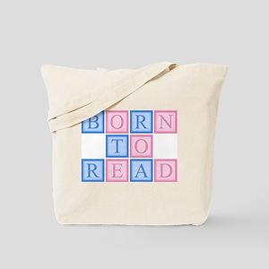 Born to Read Blocks Tote Bag