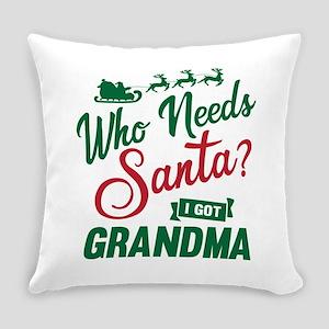 Santa Grandma Everyday Pillow